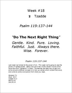"Click here to view or download Psalm 119:137-144  ""Do the Next Right Thing"""