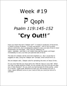 Click here to view or download Week #19 of our Psalm 119 study