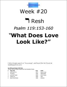 Click here to view or download Week #20 of our Psalm 119 study.