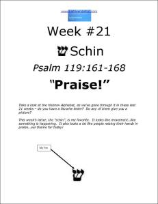 Click here to view or download Week #21 of our Psalm 119 study