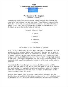 Click here to view or download Matthew Chapter 6