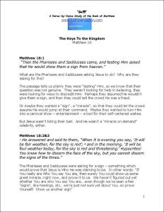 Click here to view or download Matthew Chapter 16