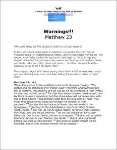 Click here to view or download Matthew 23