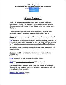 Click here to view or download this Introduction to the Minor Prophets