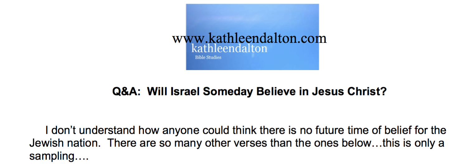 Will Israel Someday Believe in Jesus Christ?
